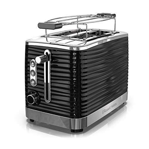 Russell Hobbs Coventry 2-Slice Toaster, Black, Included Warming Rack