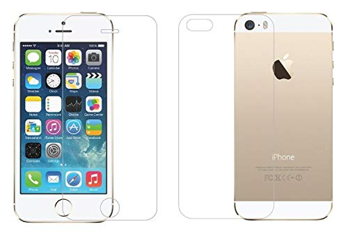 M.G.R.J® Tempered Glass Screen Protector for iPhone SE (Front & Back)