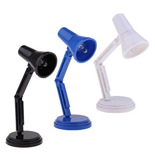 HomeDecTime Lámpara de Escritorio en Miniatura de La Casa de Muñecas 3PCS Luz de Cabecera, Kit de Iluminación LED, Decoración de La Sala de Estar de La Casa de Mu