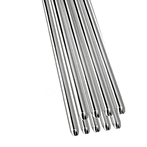 Taloit Soluciones de soldadura con núcleo de flujo de varillas de soldadura de aluminio de baja temperatura, 1.6/2mm 20/50pcs de soldadura de aluminio/varillas de soldadura Herramientas de reparación