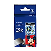 ブラザー工業 TZeテープ ディズニーテープ(ミッキーブルー/黒字) 12mm TZe-MB31