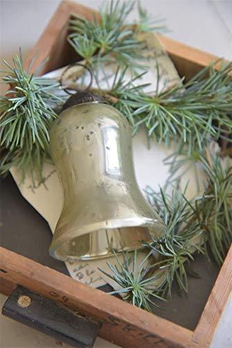 Jeanne d´Arc living Kugel Glocke 7,5cm Christbaumkugel Christmas Antiksilber