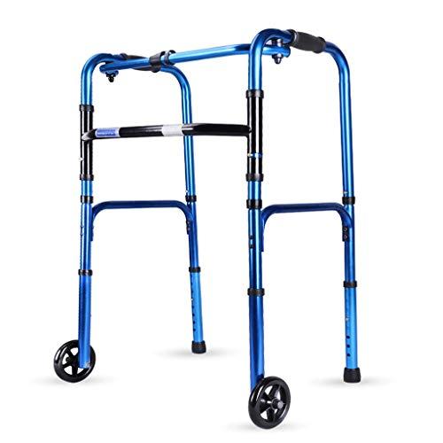 LDG Aluminium Rollator Vital Inklapbare lichtgewicht rollator 8 in hoogte verstelbaar gemakkelijk opvouwbaar loophulp trolley