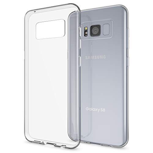 NALIA Funda Carcasa Compatible con Samsung Galaxy S8 Plus, Protectora Movil Silicona Ultra-Fina Gel Cubierta Estuche, Goma Bumper Phone Cover Cobertura Delgado Claro Case Cristal Clear - Transparente