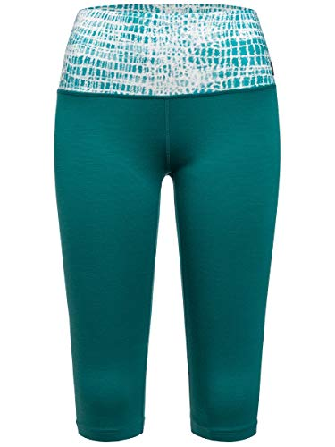 Supernatural Super 3/4 Tight Printed Collant Femme, Shaded Spruce/Spruce Shibori, FR : S (Taille Fabricant : S)