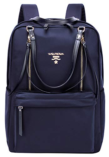 Wolfrealm Laptop Backpacks for Women Lightweight Business Backpack Purse Waterproof Travel Bags Fashion Ladies Notebook Bag,Blue 13.3 inches