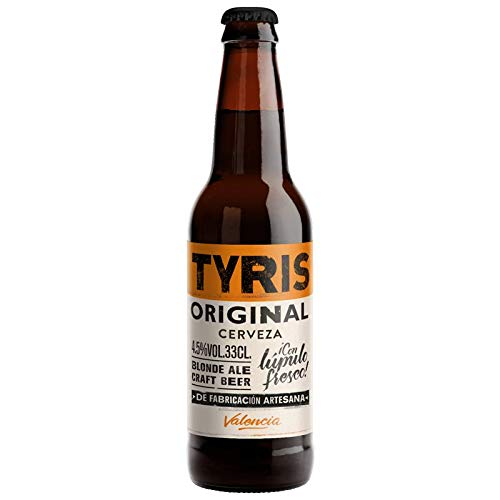 Cerveza artesana Tyris Original - Pack 12 botellas x 330 ml