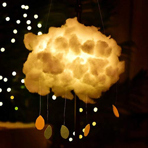 Mobestech DIY Cotton Cloud Light Creative Handmade Cloud Lamp Floating Clouds Night Light for Baby Kids Bedroom Decoration Christmas Gift