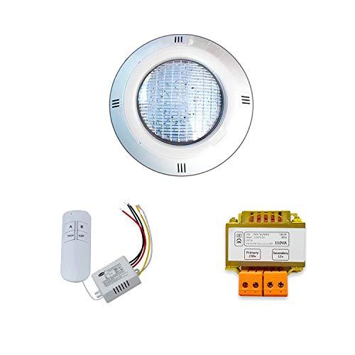 Warmpool Pack Focos LED RGB ON/Off de Superficie para Piscina + Transformador...