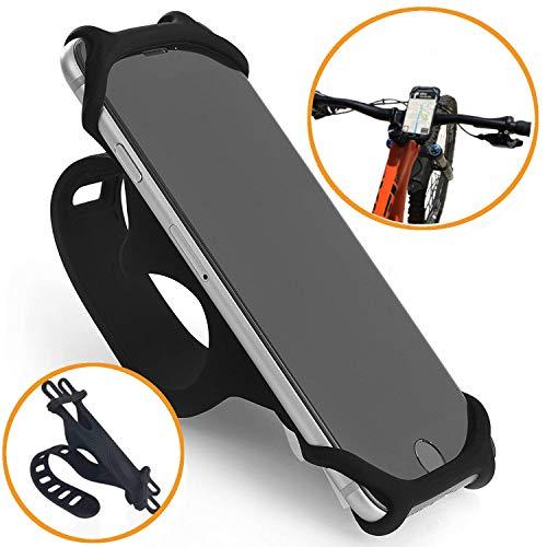 Black Bike Cell Phone Tether Holder Mount Bicycle Motorcycle Golf Cart ATV Handlebar For Google Pixel 4 XL, OnePlus 6T 7 PRO 7T, LG Stylo 5, Stylo 4 G8 G7 V50 V40 K40 K30, Moto Z4 Z3 Z2 G7 G6 G5 E6 E5