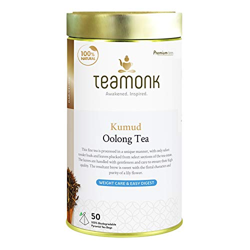 Teamonk Kumud Imperial Himalayan Oolong Tea Bags - 50 Tea Bags   100% Natural Tea   Oolong Tea for Weight Loss   Slimming Tea   No Additives