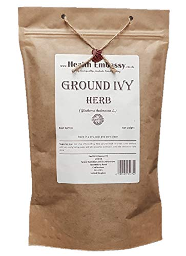 Health Embassy Gundermann Kraut Tee (Glechoma hederacea L.) / Ground Ivy Herb Tea, 100g