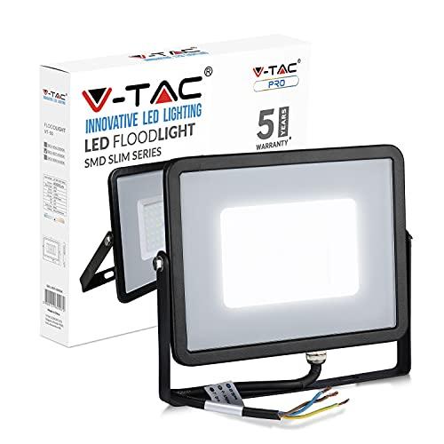 V-TAC VT-50 Foco LED para Samsung Chip K, 4000 LM, IP65, 50 W, A, A+, A, 4000K, 50W