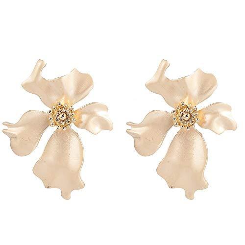 Arete Mujer declaración Big Flower Ear Stud Pendientes cuelgan joyería de Fiesta Regalo Navidad Pendientes ED564