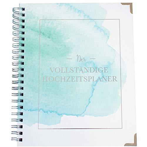 Hochzeitsplaner Deutsch Organizer Buch & Hochzeit Kalender Aquarell - German Wedding Planner