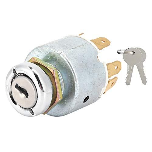 Interruptor de encendido con 2 llaves para cortacésped coche barco 12V