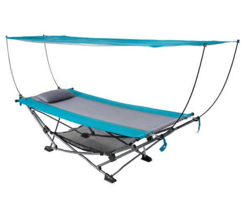 Nikkycozie Portable Fold Up Hammock with Removable Canopy.