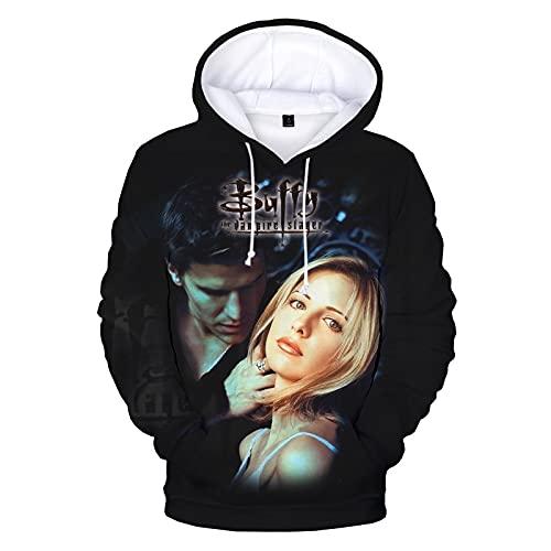 Buffy contre les vampires sweat à capuche imprimé 3D série TV Harajuku Streetwear sweats à capuche hommes femmes mode pull décontracté