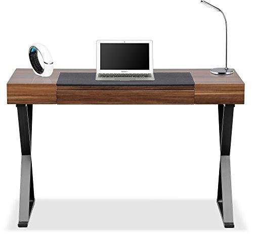 Centurion Soporta ADONIS nogal con patas negras mate ergonómico hogar oficina escritorio de lujo