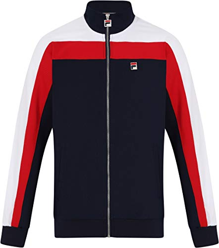 Fila VINTAGE Parker Vintage Style Track Jacket | Peacoat/White/Red Medium
