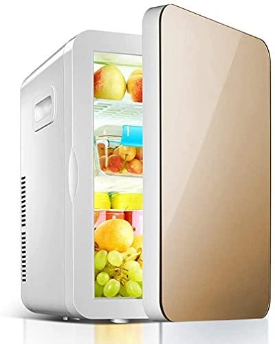 Riyyow 20L Mini refrigerador con Oficina de Dormitorio o Dormitorio con estantes de Vidrio de eliminación Ajustable Compacto refrigerador de Acero Inoxidable