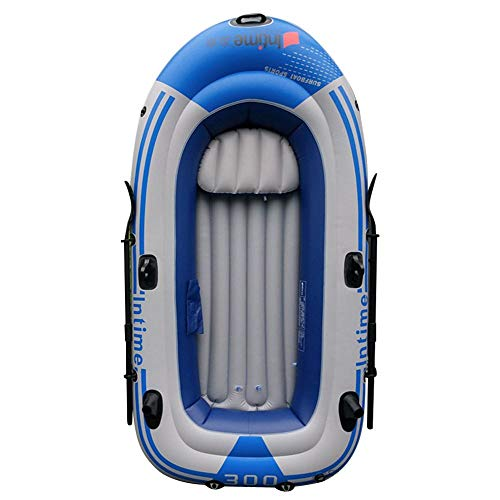 Kayak hinchable de PVC para 2/3/4 personas, con remo y bomba de aire, puede cerrar rápidamente la doble válvula