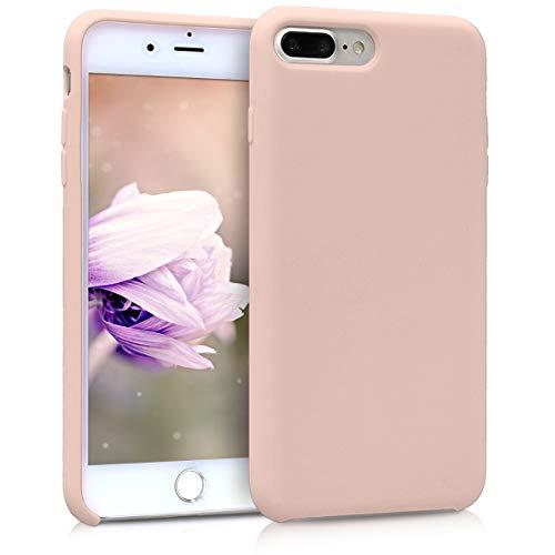 kwmobile Cover per Apple iPhone 7 Plus / 8 Plus - Cover Custodia in Silicone TPU - Back Case Protezione Cellulare Rosa Antico