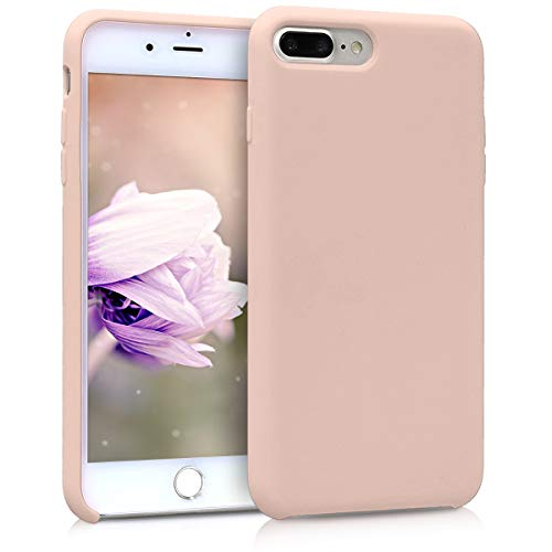 kwmobile Cover Compatibile con Apple iPhone 7 Plus / 8 Plus - Custodia in Silicone TPU - Back Case Protezione Cellulare Rosa Antico