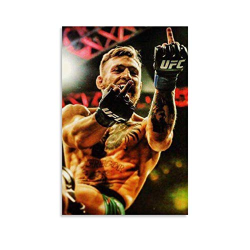 SHEFEI Conor McGregor Middle Finger (2) Póster, cuadro decorativo para pared, arte para sala de estar, dormitorio, 30 x 45 cm
