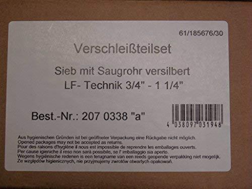 Judo Ersatzteil Sieb mit Saugrohr versilbert LF-Technik 3/4