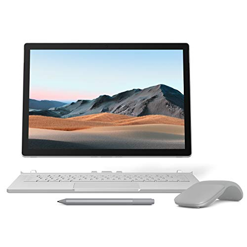 【Microsoft ストア限定】3点セット: Surface Book 3 (Core i5/8GB/256GB) + Surface Arc Mouse (グレー) +...