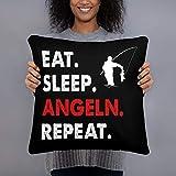 generisch Eat Sleep Angeln Repeat Angler Kissen Kopfkissen