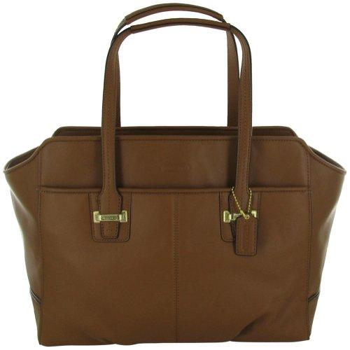 Coach Taylor F25205 Women's Shoulder Bag Leather Purse Brown