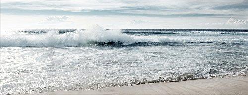 artissimo, Glasbild, 80x30cm, AG4075A, Ocean, Strand und Meer, Bild aus Glas, Moderne Wanddekoration aus Glas, Wandbild Wohnzimmer modern
