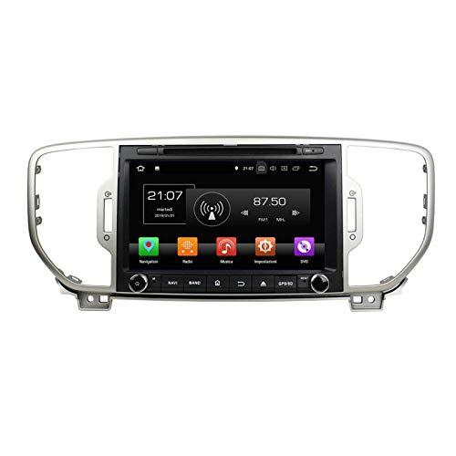 Android 8.0 Autoradio Navigazione GPS per Kia Sportage(2016-2019), 8 Pollici Touchscreen Lettore DVD Radio Bluetooth