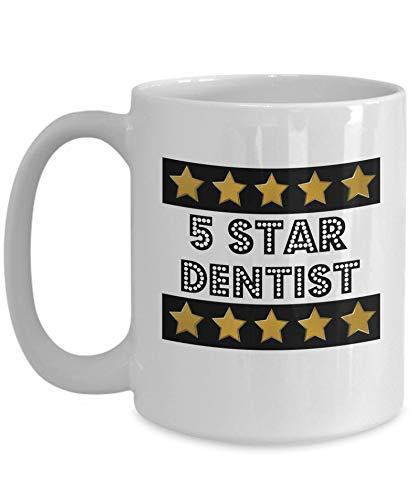 Zor345damilla Zahnarzt-Tasse, 5-Sterne-Zahnarzt, Geschenk für Zahnärzte, 325 ml, Keramik