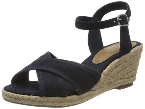 Tom Tailor 805200930, Sandali con Cinturino alla Caviglia Donna, Blu (Navy 00003), 42 EU