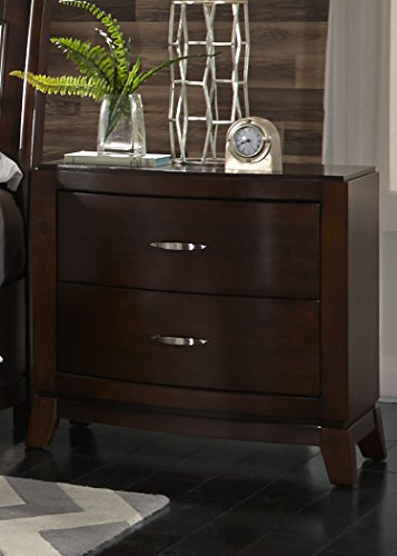 Liberty Furniture Industries Avalon 2-Drawer Night Stand, 28' x 17' x 28', Dark Truffle