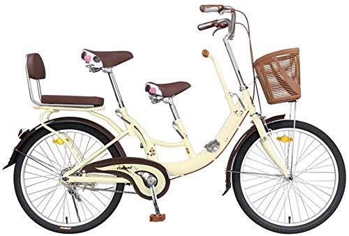 DX Bicicleta de montaña juvenil de carretera para padres y niños, coche para madre e hijo pueden llevar a niños y niños a recoger