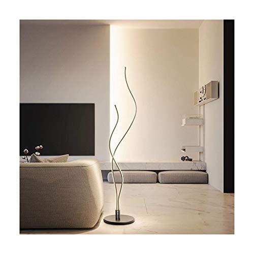 N/Z Home Equipment Novelty Lamps Floor Lamp Dimmable Led Modern Minimalist Bedroom Bedside Vertical C Tri-Color Light