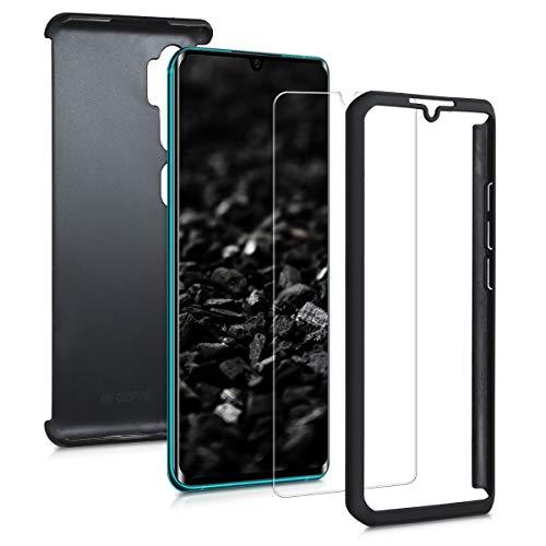 kwmobile Hülle kompatibel mit Xiaomi Mi Note 10 / Note 10 Pro - Hülle komplette Abdeckung - mit Bildschirmschutz Metallic Schwarz
