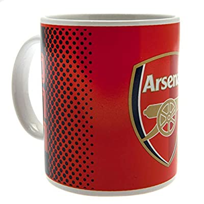Arsenal FC Fade Design Ceramic Mug In Acetate Box (3.5 x 3.2in) (Red/White/Navy)