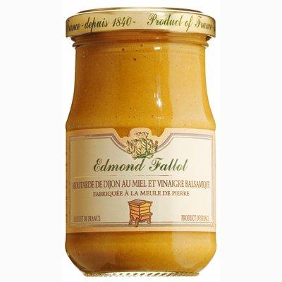 Edmond Fallot - Senf mit Honig und Balsamico-Essig (Moutarde au Miel et Vinaigre balsamique) im Glas, 105 g