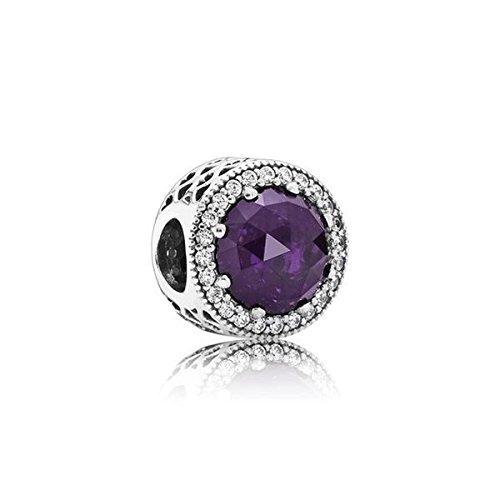 Pandora 791725NRP radiante corazones encanto, Royal Purple