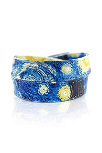 Starry Night Bracelet [Vincent Van Gogh] for Men and Women, Handmade Canvas Wrap Bracelet