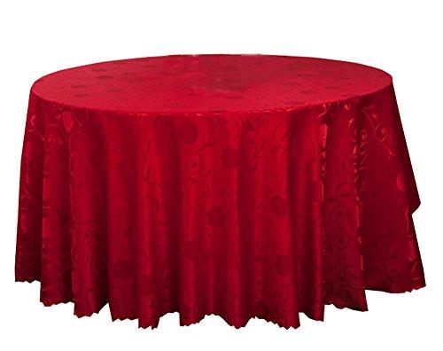 Black Temptation Banquet de Mariage Accessoires de Table Nappes Rondes Couverture de Table Peony Rouge (240 * 240 CM)