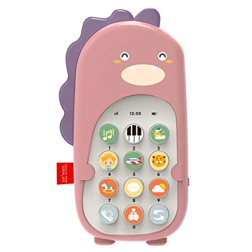 Niños Teléfono móvil Música Sonido Juguetes Bebé Control Remoto Dinosaurio Juguetes para bebés Juguetes educativos con 70 Sonidos Volumen Ajustable