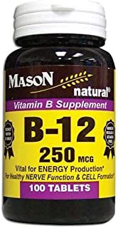 3 Pack Special of MASON NATURAL B-12 250 MCG TABLETS 100 per bottle