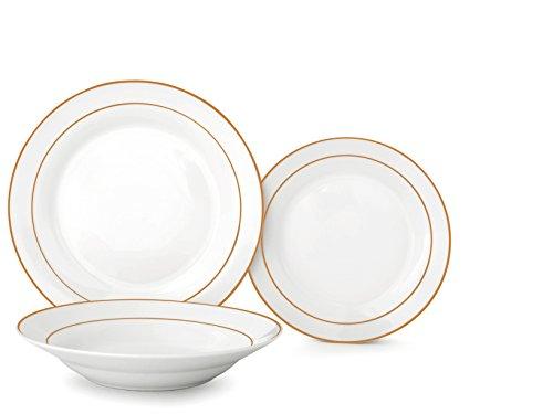 Home Siena Service Table pièces, Porcelaine, Blanc, 18 unités