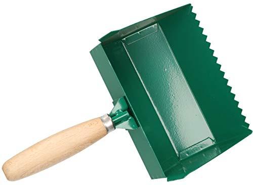 KOTARBAU Klebekelle 100 – 420 mm Holzgriff Plankelle Porenbetonkelle Gasbetonkelle Mörtelbettkelle Plansteinkelle Betonschaufel Rechteckzahnung (175 mm)